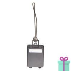 Kofferlabel papieren adresinzet zwart bedrukken
