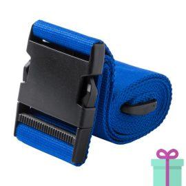 Kofferriem blauw bedrukken