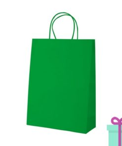 Kraft papieren tas groen 100gr bedrukken