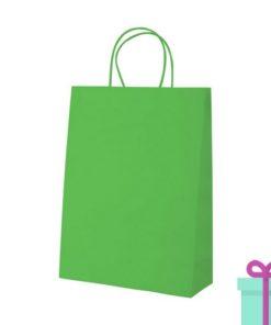 Kraft papieren tas klein groen bedrukken
