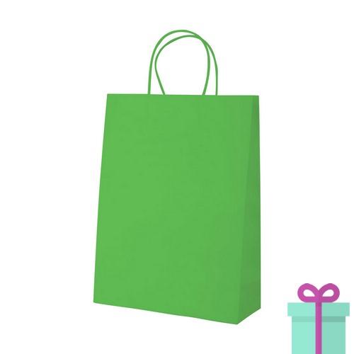 70dcd6350f0 Kraft papieren tas klein groen | Relatiegeschenken-drukken.nl