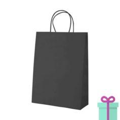 Kraft papieren tas klein zwart bedrukken