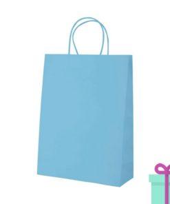 Kraft papieren tas lichtblauw 100gr bedrukken