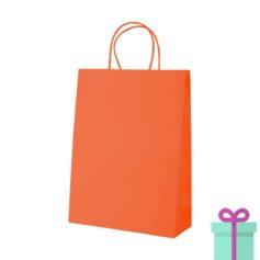 Kraft papieren tas oranje 100gr bedrukken