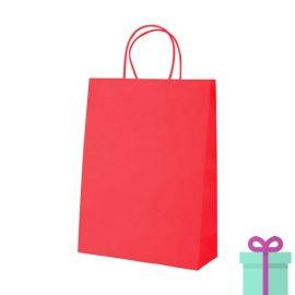 Kraft papieren tas rood 100gr bedrukken