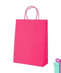 Kraft papieren tas roze 100gr bedrukken