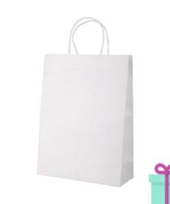Kraft papieren tas wit 100gr bedrukken
