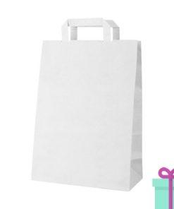 Kraft papieren tas wit 90gr bedrukken