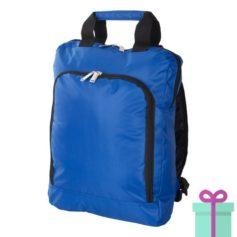 Laptop rugzak travel blauw bedrukken
