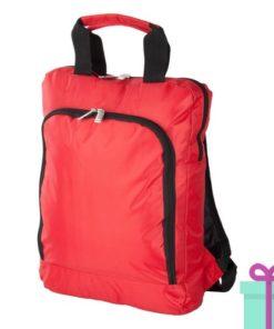 Laptop rugzak travel rood bedrukken