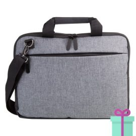 Laptoptas designer grijs bedrukken