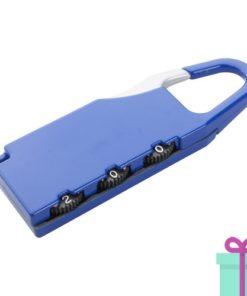 Metalen bagageslot blauw bedrukken