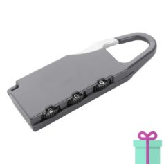 Metalen bagageslot grijs bedrukken
