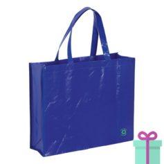 Milieuvriendelijke boodschappentas blauw bedrukken