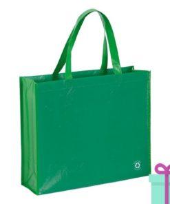 Milieuvriendelijke boodschappentas groen bedrukken