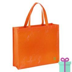 Milieuvriendelijke boodschappentas oranje bedrukken
