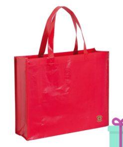 Milieuvriendelijke boodschappentas rood bedrukken