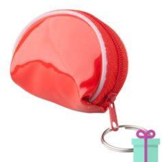 Mini handtas sleutelhanger rood bedrukken