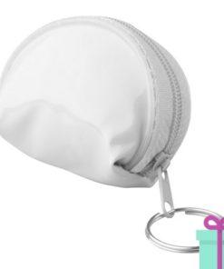 Mini handtas sleutelhanger wit bedrukken