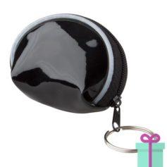 Mini handtas sleutelhanger zwart bedrukken