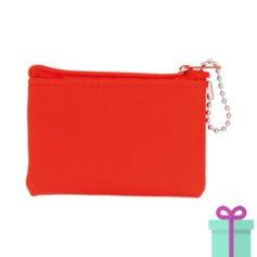 Mini microfiber portemonneetje rood bedrukken