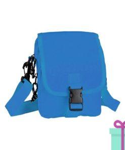 Mini schoudertas blauw bedrukken