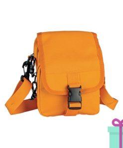 Mini schoudertas oranje bedrukken
