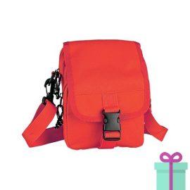 Mini schoudertas rood bedrukken
