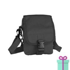 Mini schoudertas zwart bedrukken
