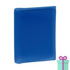 Multi pashouder blauw bedrukken