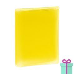 Multi pashouder geel bedrukken