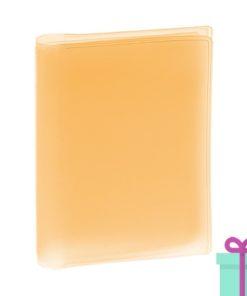 Multi pashouder oranje bedrukken