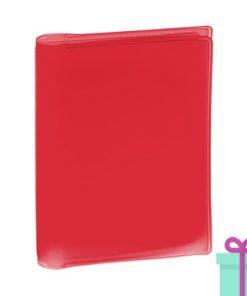 Multi pashouder rood bedrukken