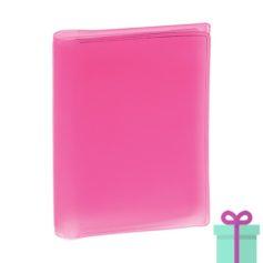 Multi pashouder roze bedrukken