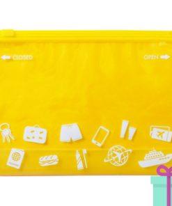 Multifunctionele reistas geel bedrukken