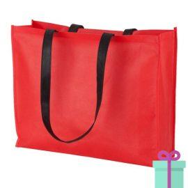 Non-woven shopper lang hengsel rood bedrukken