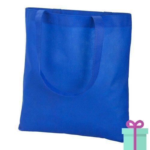 Non-woven shopper promotietas blauw bedrukken