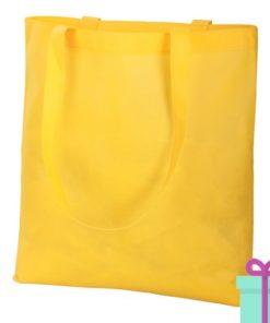 Non-woven shopper promotietas geel bedrukken