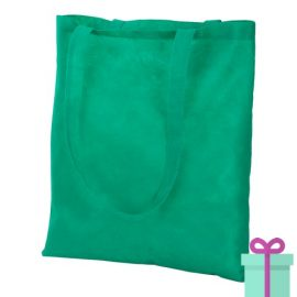 Non-woven shopper promotietas groen bedrukken