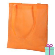 Non-woven shopper promotietas oranje bedrukken