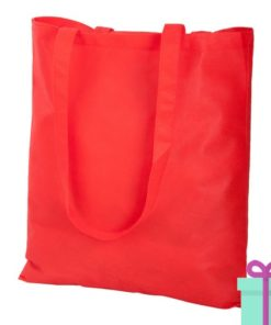 Non-woven shopper promotietas rood bedrukken