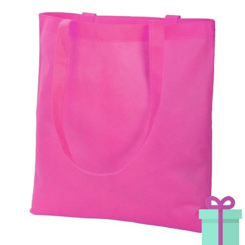 Non-woven shopper promotietas roze bedrukken