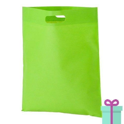 Non-woven tas goedkoop groen bedrukken