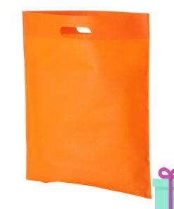 Non-woven tas goedkoop oranje bedrukken