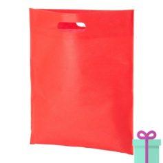 Non-woven tas goedkoop rood bedrukken
