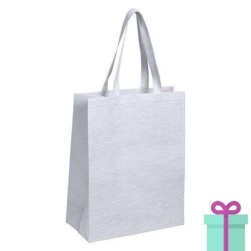 Non-woven tas met bodem wit bedrukken