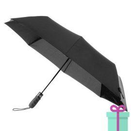 Opvouwbare paraplu automatic zwart bedrukken