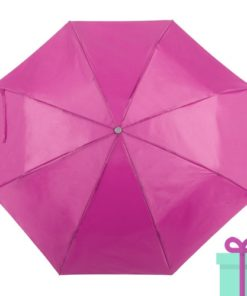 Opvouwbare paraplu met hoes roze bedrukken