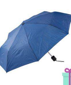 Opvouwbare paraplu poly blauw bedrukken