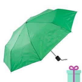 Opvouwbare paraplu poly groen bedrukken
